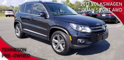 Pre-Owned 2017 Volkswagen Tiguan Sport With Navigation & AWD